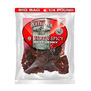 Old Trapper Hot Beef Jerky 4 oz
