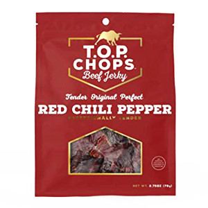 Top Chops Red Chili Pepper Beef Jerky 2.75 oz