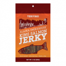 Alaska Smokehouse Teriyaki Salmon Jerky 3 oz