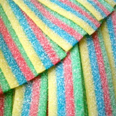 Rainbow Sour Belts 4 oz