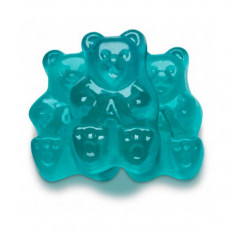 Blue Watermelon Gummi Bears 8 oz
